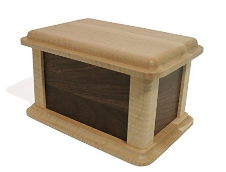 Walnut and Birdseye Maple Wood Burial Urn made in Vermont