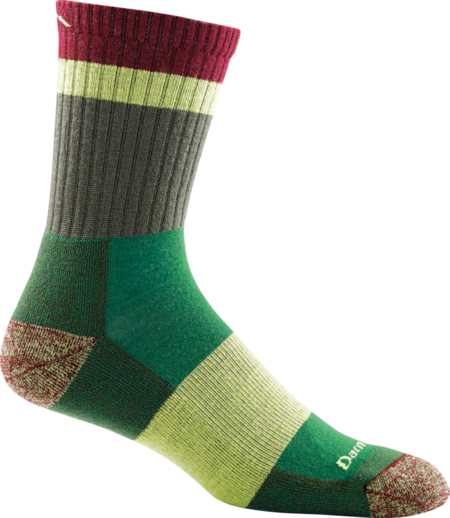 Heady Stripe Micro Crew Light Cushion Sock made in Vermont