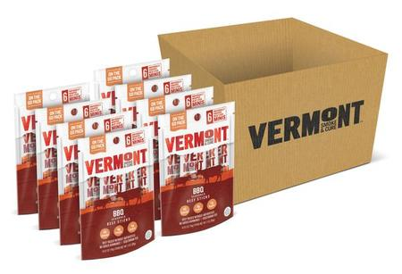 BBQ Beef Mini Meat Stick Go Packs (Pack Of 8 Pouches) made in Vermont