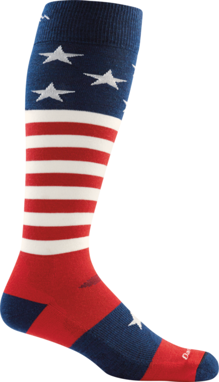 Captain Stripe Over-the-Calf Light Socks made in Vermont