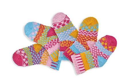 Mismatched Baby socks made in Vermont