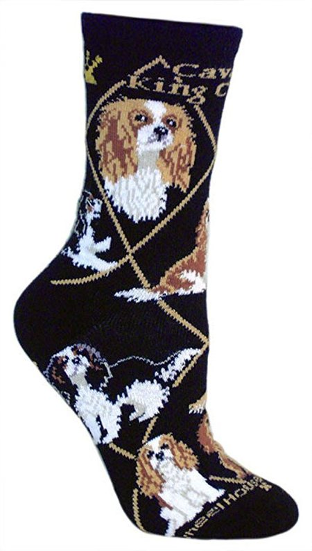 Cavalier King Charles Spaniel Puppy Dog Breed Animal Socks made in Vermont
