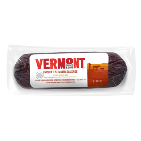 Uncured Summer Sausage made in Vermont