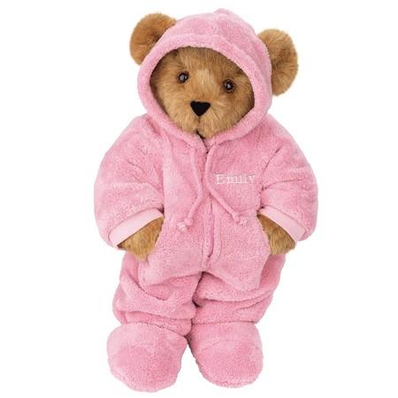 "15"" Hoodie Footie Bear made in Vermont"