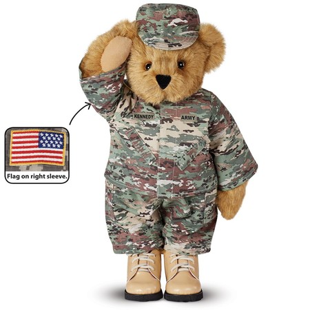 "15"" Camouflage Bear made in Vermont"