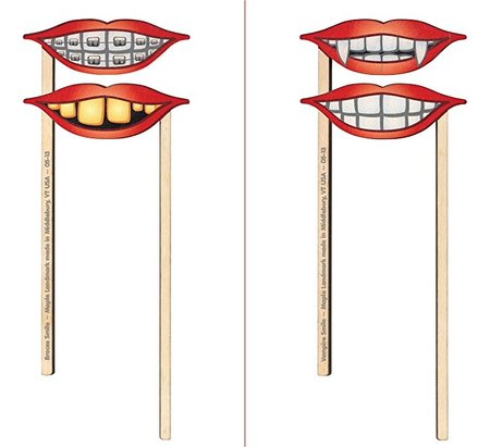 Silly Sticks 2 Pk Smiles made in Vermont