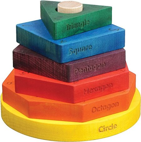 Shape Stacker in Rainbow Colors made in Vermont