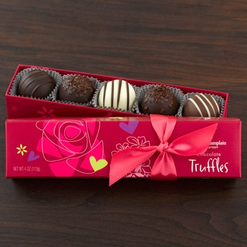 Valentine Chocolate Truffles 5pc made in Vermont