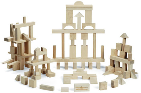 Maple Landmark Master Builder Block Set made in Vermont