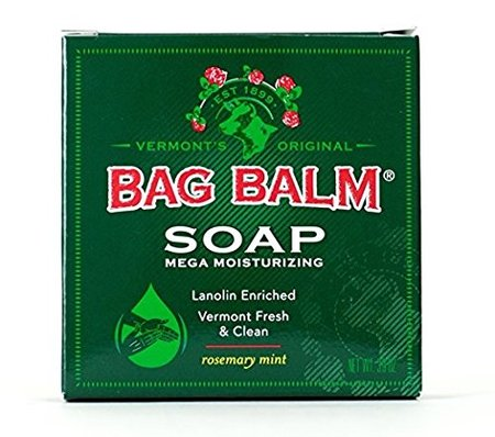 Bar Soap, Mega Moisturizing, Rosemary Mint, 3.9oz Per Bar (6 Pack) made in Vermont