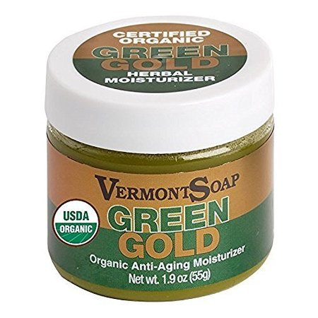 Certified Organic Green Gold Herbal Moisturizer 1.9 oz made in Vermont