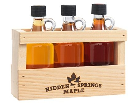 Maple Deluxe Syrup Sampler, Golden/Amber/Dark, 3 Count made in Vermont