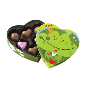 Friendly Frog Valentine Chocolates 6pc made in Vermont