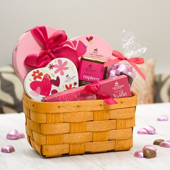 Be Mine Chocolate Gift Basket made in Vermont