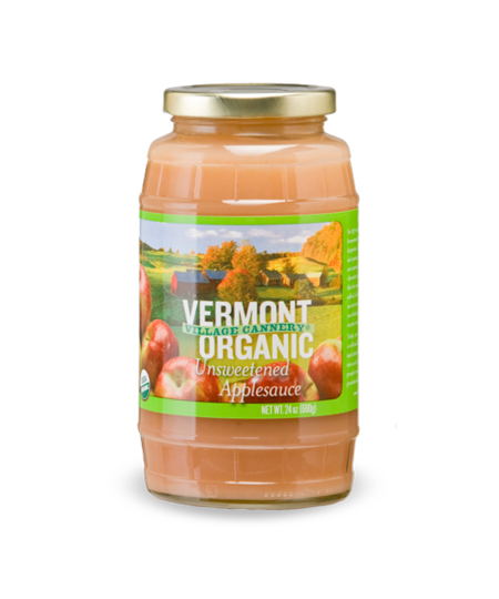 Organic Unsweetened Applesauce made in Vermont