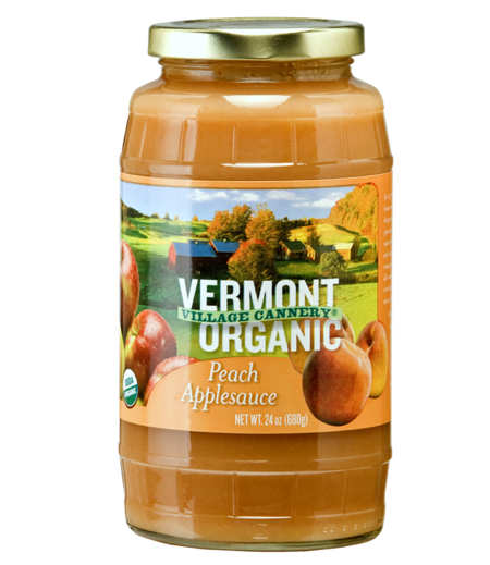 Organic Peach Applesauce made in Vermont