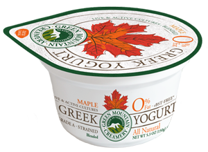 Maple Greek Yogurt made in Vermont
