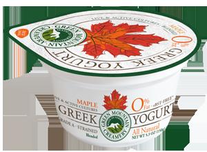 Maple Greek Yogurt made in Vermont