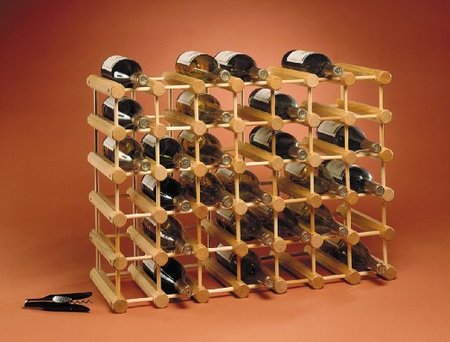 Ash Wood 40-Bottle Wine Rack made in Vermont