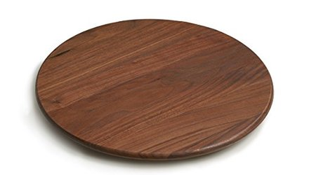 Round Lazy Susan with Clear Finish made in Vermont