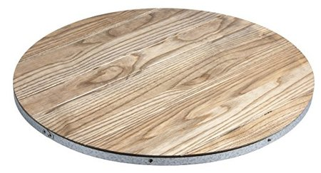 Champlain Round Driftwood & Galvanized Lazy Susan made in Vermont