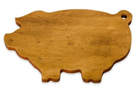 Pig-Shaped Maple Wood Cutting Board made in Vermont