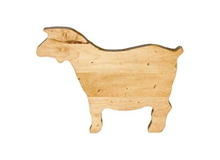 Goat-Shaped Maple Wood Cutting Board made in Vermont
